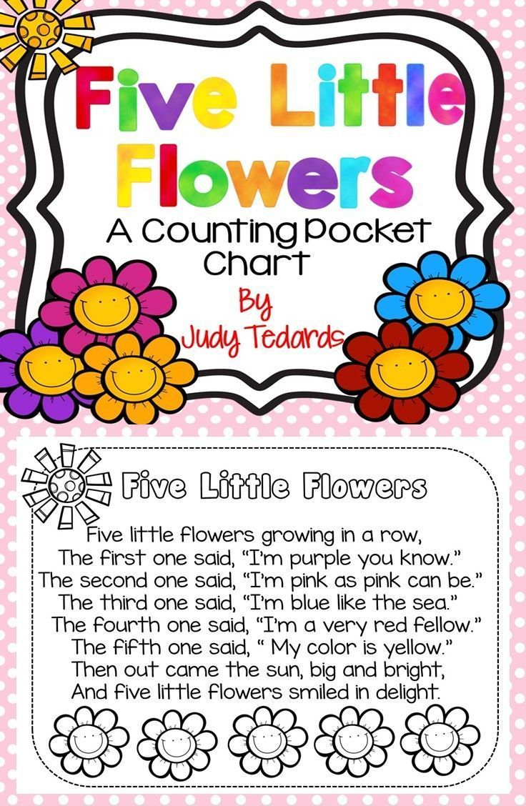 Five Little Flowers (Pocket Chart Activity and Student