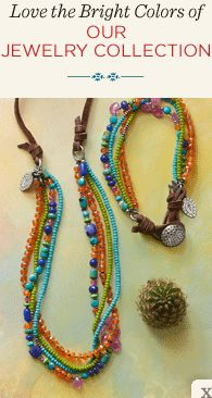 THREE-BEAD LINEN NECKLACE - Necklaces Under $100 - Necklaces - Jewelry | Robert Redford's Sundance Catalog