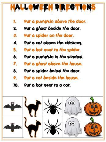 Pinterest Pin of the Week: Halloween Spatial Directions Activity - Pinned by @PediaStaff – Please Visit http://ht.ly/63sNt for all our pediatric therapy pins