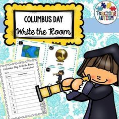 This Columbus Day themed write the room activity is a great way to have students moving around the room, hunting for the different cards, reading them and then writing down the answers onto recording sheets. The recording sheets come in 2 different options of numbers 1-10 and 1-20 as well as in 2 different ability levels - plain boxes to write the answers in or