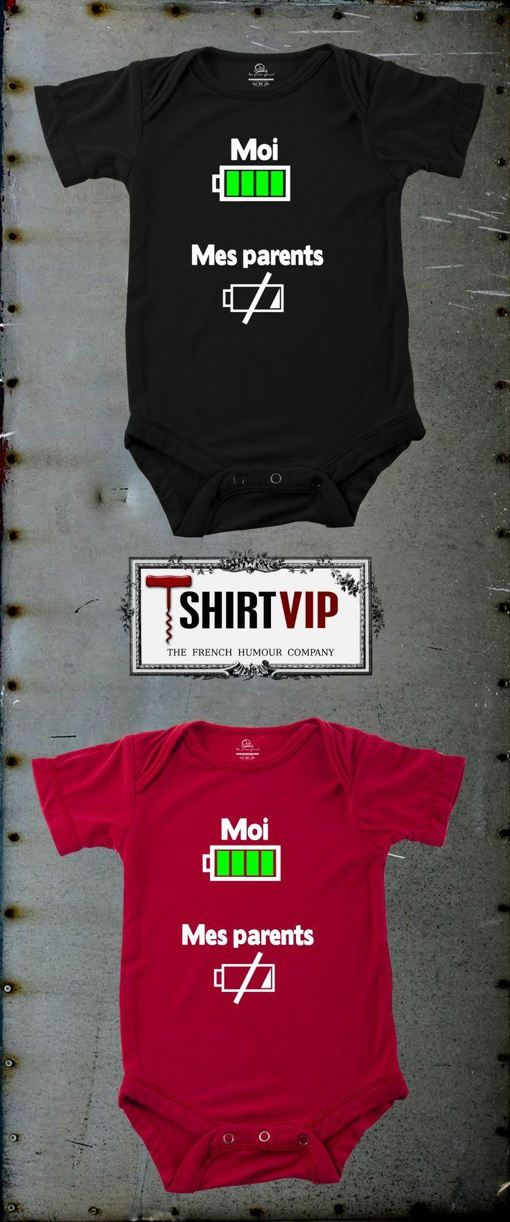 Devinez qui a le plus de batterie ?  http://www.tshirtvip.com/t-shirt-bebe #tshirt #humour