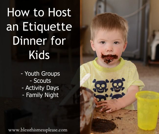 How to Host an Etiquette Dinner for kids - I did this with Cub Scouts (10 year olds) and with Activity Day girls and it was SO much fun.