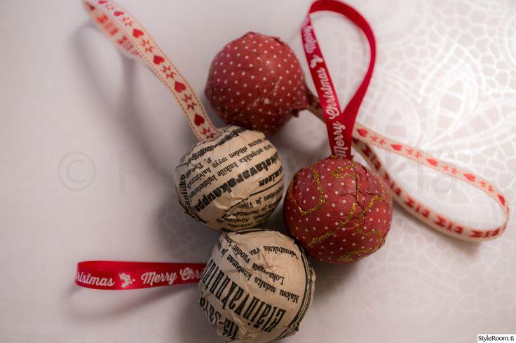tee se itse,joulukoristeet,joulukoti,joulu,kuusenpallo,askartelu,Tee itse - DIY