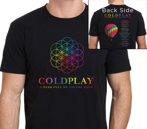 >> Click to Buy << Coldplay T shirt men a head full of dreams music  printed casual two sides  tee shirt US plus size S-3XL #Affiliate