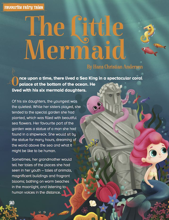 Our Favourite Fairy Tale for Storytime Issue 24 is a gorgeous Little Mermaid, with art by Martha (http://www.martuka.com) ~ STORYTIMEMAGAZINE.COM