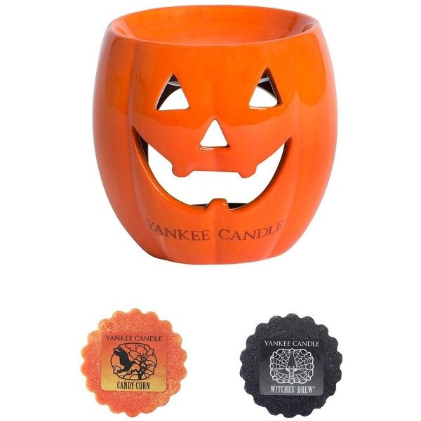 Yankee Candle Halloween Pumpkin Wax Melt Collection (1.145 RUB) ❤ liked on Polyvore featuring home, home decor, fragrance oil warmer, yankee candle electric warmer, yankee candle oil warmer, yankee candle wax burner and scented oil warmer