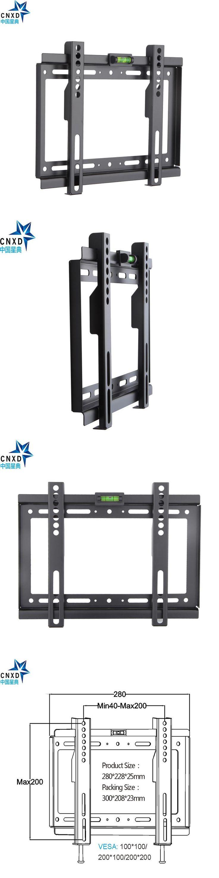 Slim LCD LED Plasma TV Wall Mount Bracket 14~32 Inch Max VESA 200*200mm Super Strong 88lbs Weight Capacity