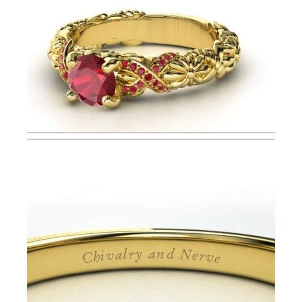 Anillos de compromiso de Harry Potter ❤ liked on Polyvore featuring rings