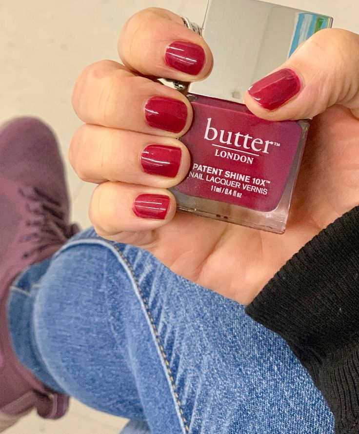 Butter London Broody How to do nails, Butter london