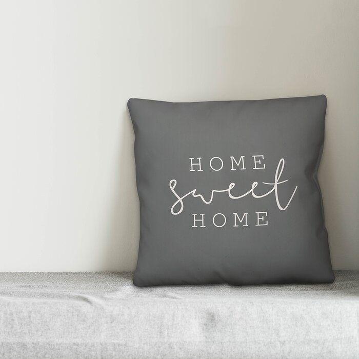 Cohn Home Sweet Home Indoor Outdoor Throw Pillow Throw Pillows Long Throw Pillows Pillow Covers