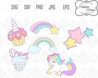 unicorn svg, unicorn clipart, unicorn horn svg, rainbow svg, star clipart, cupcake, unicorn svg bundle, cricut cut files, silhouette, vector