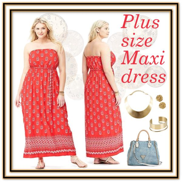 plus size dress in red guess