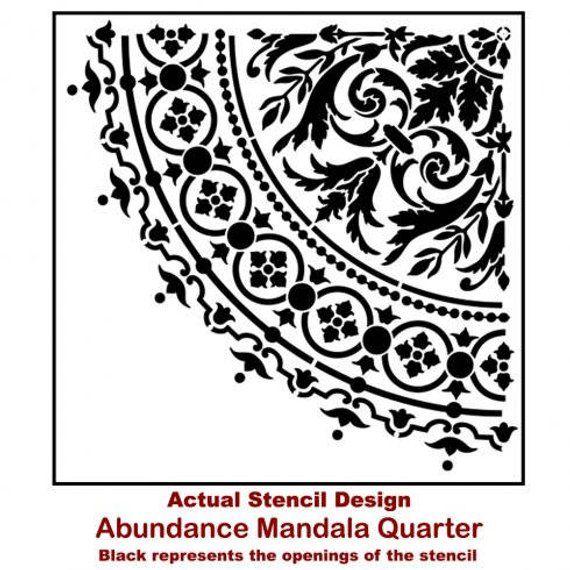 A3 42 x 29,7cm Plantilla reutilizable Plantilla de pl/ástico Mandala di/ámetro 25 cm apta para ni/ños Plantilla de mandala Plantilla para pintar pasteles muebles pared artesan/ía y graffiti