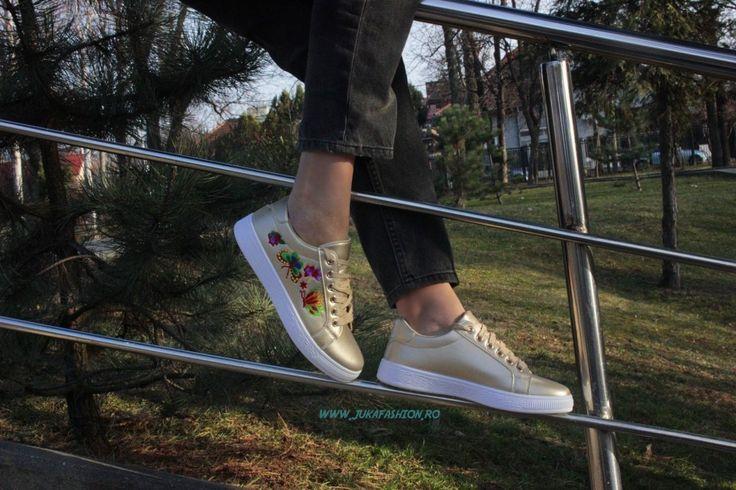 "Poze Pantof Dama Casual ""Flowers"" by Gold JukaFashion.ro cod B5550-555"