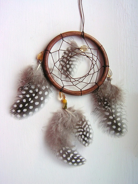 Wooden Dreamcatcher with Citrine Beads & Guineafowl Feathers by Rainbow Dreamcatchers, via Flickr
