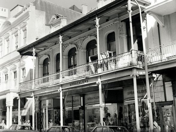 Spracklens in Plein Street, Cape Town, where my Mom sometimes used to shop....with me in tow. Late 50's.