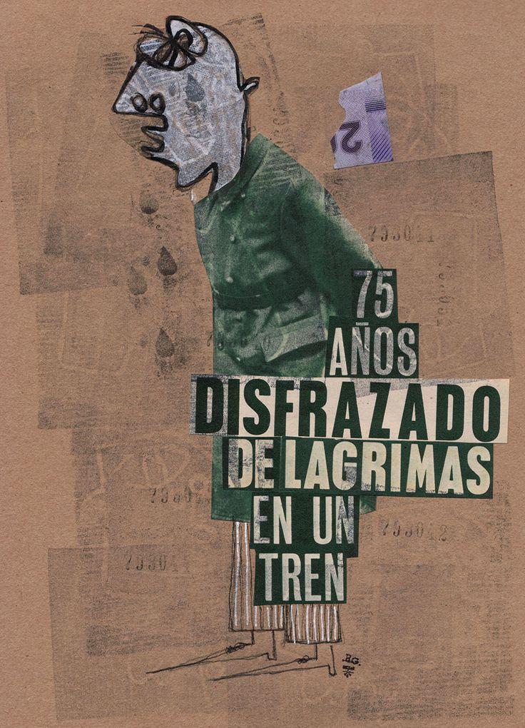 """Rodrigo Gárate Chateau, """"DISFRAZADO DE LÁGRIMAS"""" (2016). 75 años disfrazado de lágrimas en un tren."""