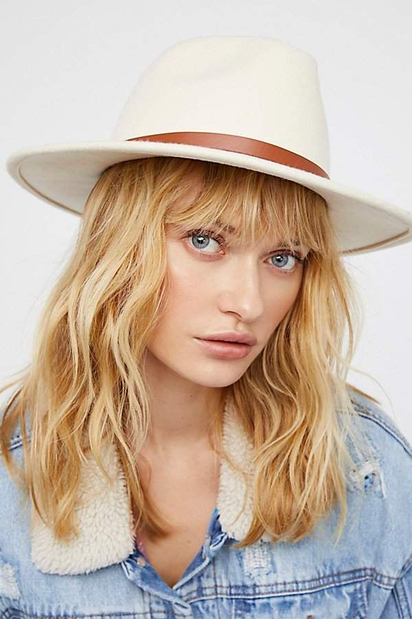 Wythe Leather Band Felt Hat by Free People