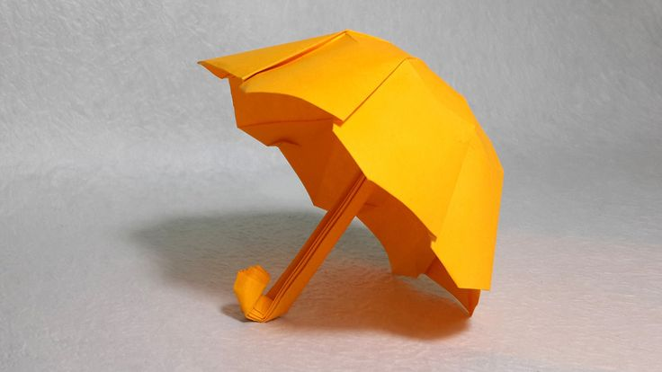 How to make an origami umbrella (Henry Phạm) video by LP Origami (Lazy Paper) For an origami Totoro :)