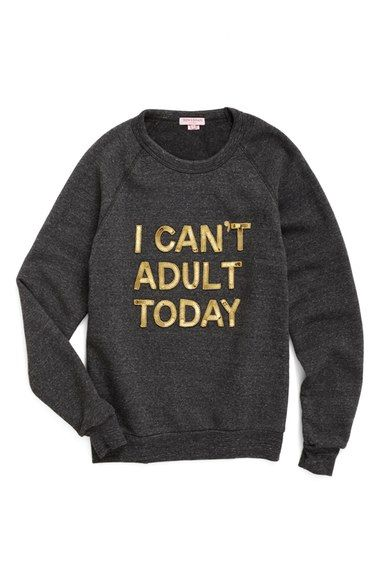 Bow & Drape I Can't Adult Today Sweatshirt available at #Nordstrom