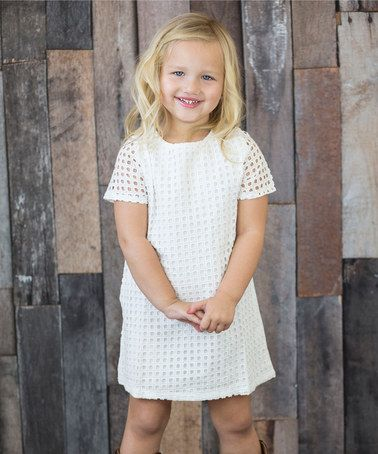 Look what I found on #zulily! White Circle Shift Dress - Infant, Toddler & Girls by Designs by Meghna #zulilyfinds