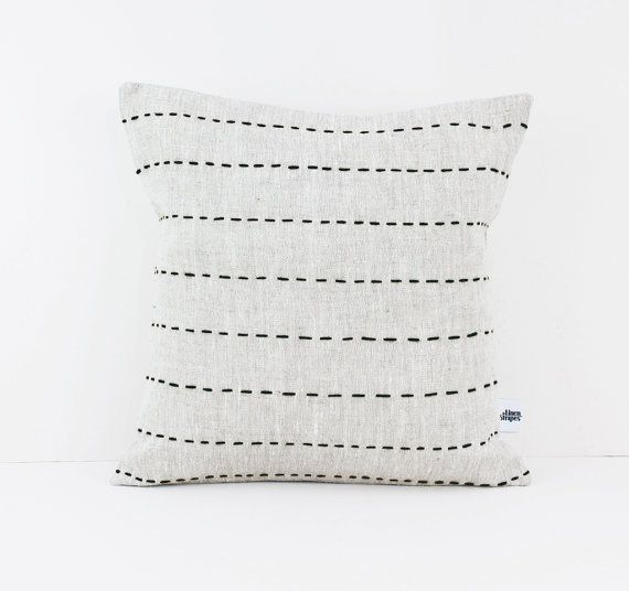 Stripes Linen Throw Pillow | DailyMail