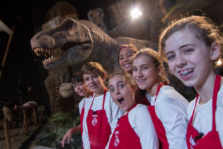Grabación zona espectáculo T-rex, Dinópolis (Teruel) Masterchef Junior. Emisión TVE 25 de diciembre de 2013