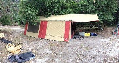 New Zealand Made 8 Man 3 Room Canvas Family Tent Cabana 200 RRP $2900