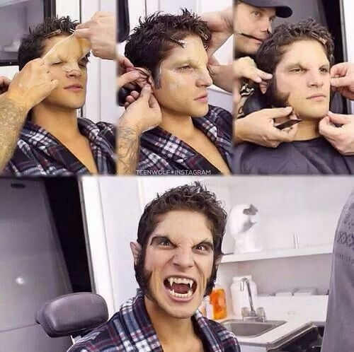 Werewolf makeup process