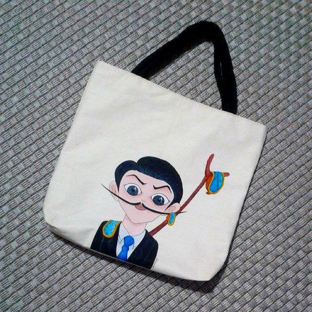 Salvador Dali cotton bag.