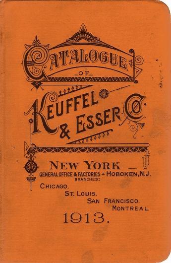 Vintage type catalog for Keuffel & Esser Co.