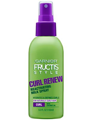 Garnier Fructis Style Curl Renew Reactivating Milk Spray Natural Hair