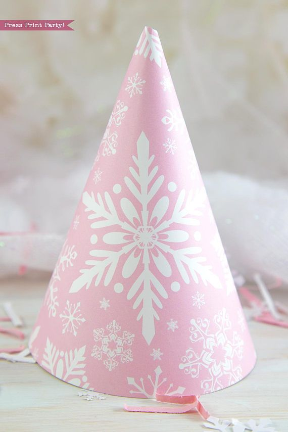 Winter ONEderland Party Decorations Printable Pack Pink and silver.   Is your little one turning ONE in the winter months? Celebrate with a   winter ONEderland party everyone will remember.   The soft pinks and silvers will transform your house into a magical   snowy wonderland!  Christmas Decor, Christmas party, Onederland Party, Pink snowflakes,   printable, wonderland, 1st birthday, first, baby shower, party hat, #Onederland   #OnederlandParty #1stbirthday