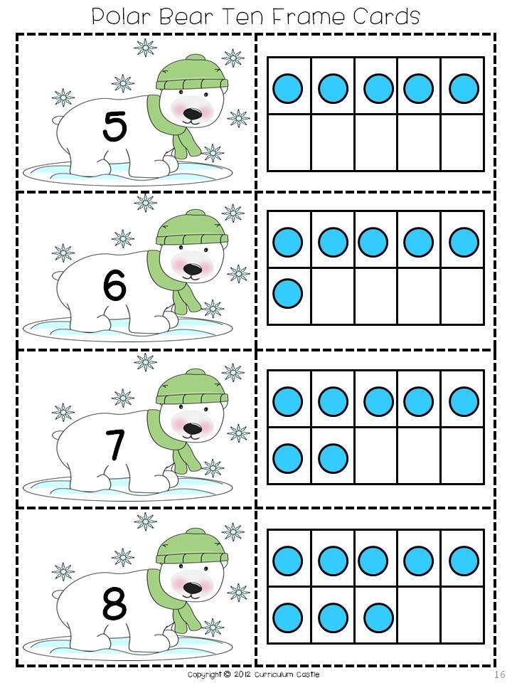 Polar Bear Ten Frame Cards! $