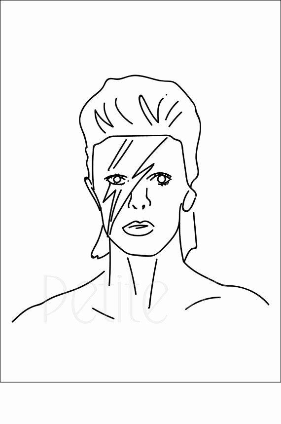David Bowie Coloring Book Best Of David Bowie Print Bowie David Bowie Poster David Bowie Art British Print Decorative Art Minimalist Print Line Drawing Line Wor