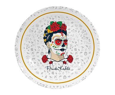 Plato decorativo Skull, multicolor - Ø25,5 cm