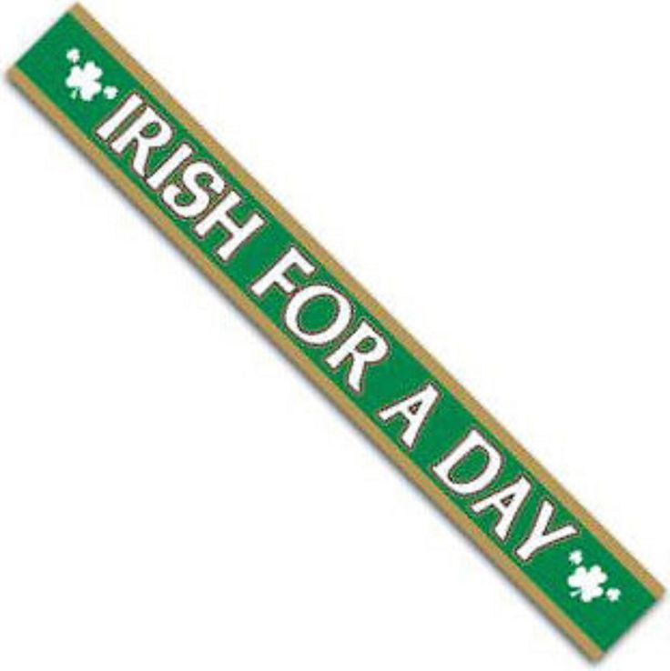 "St Patrick's Day Party Supplies - ""Irish for a Day"" Satin Sash"