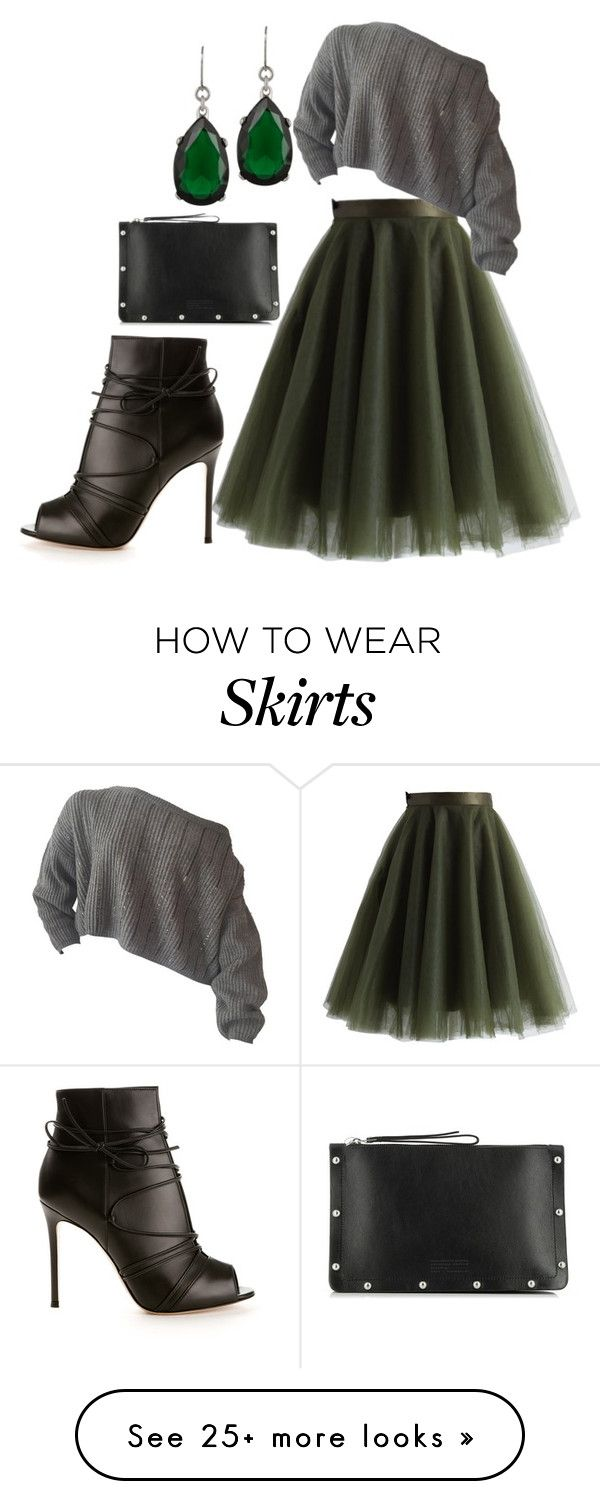 """""""Fall Skirt"""" by kameestlye on Polyvore featuring Chicwish, Kenneth Jay Lane, Gianvito Rossi, Marc by Marc Jacobs, skirt, shoes and marcjacobs"""
