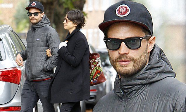Jamie Dornan and wife Amelia Warner look loved-up during day out