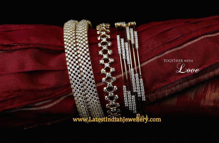 Sleek Design Diamond Bangles