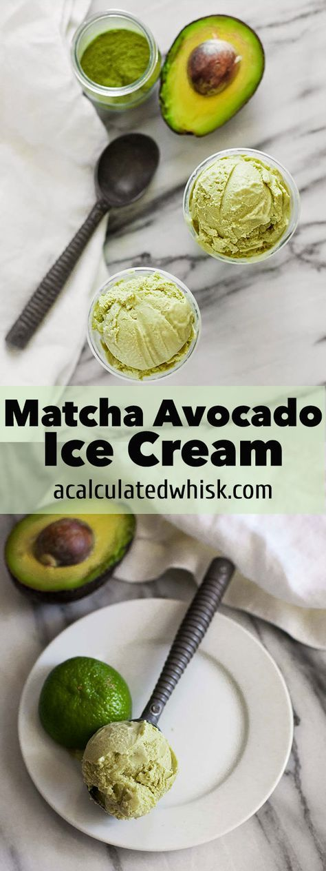 An ice cream dessert for summer full of cancer fighting skin saving ingredients Matcha Avocado green tea Ice Cream (Gluten free with a dairy-free option)