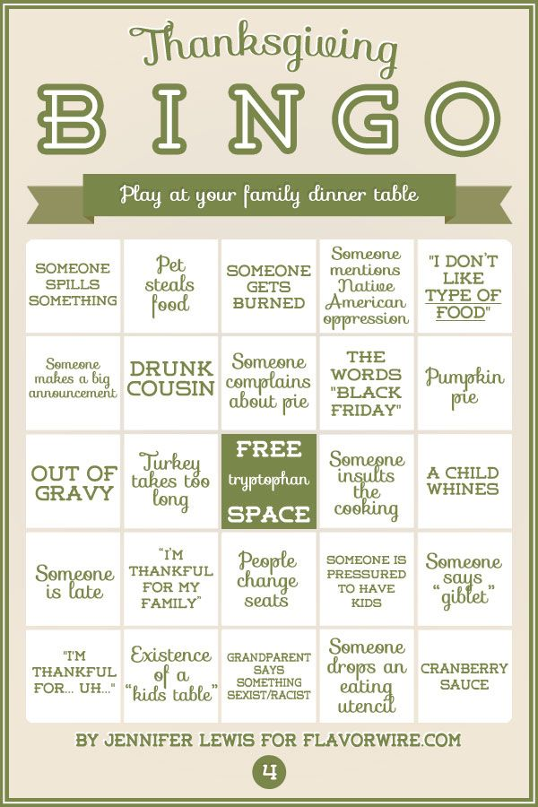 We are hosting again this year, and I'm usually in charge of games. This could get interesting. Turkey Bingo: A Fun Thanksgiving Game To Print & Play
