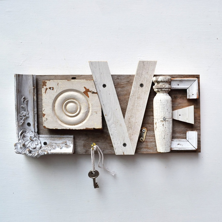 scrap wood sign love