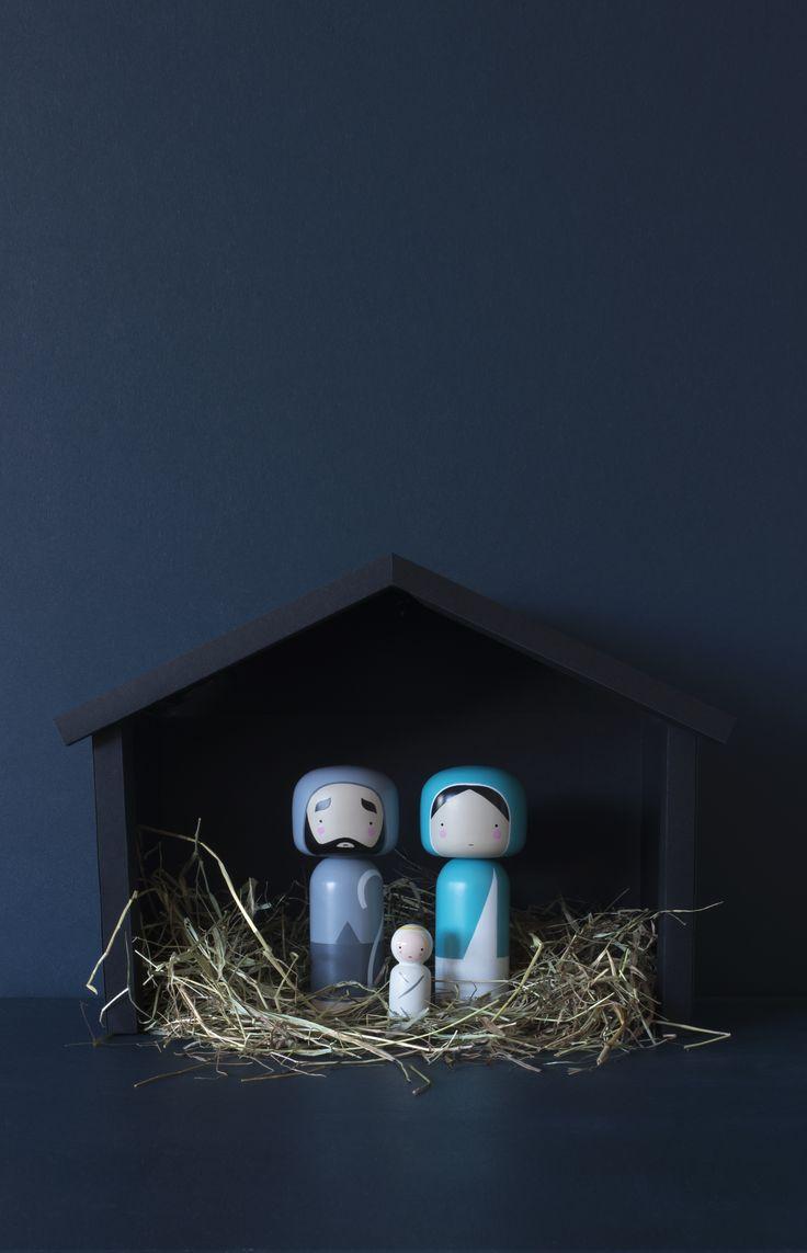 Sketch.inc Nativity Kokeshi Dolls  /  Lucie Kaas