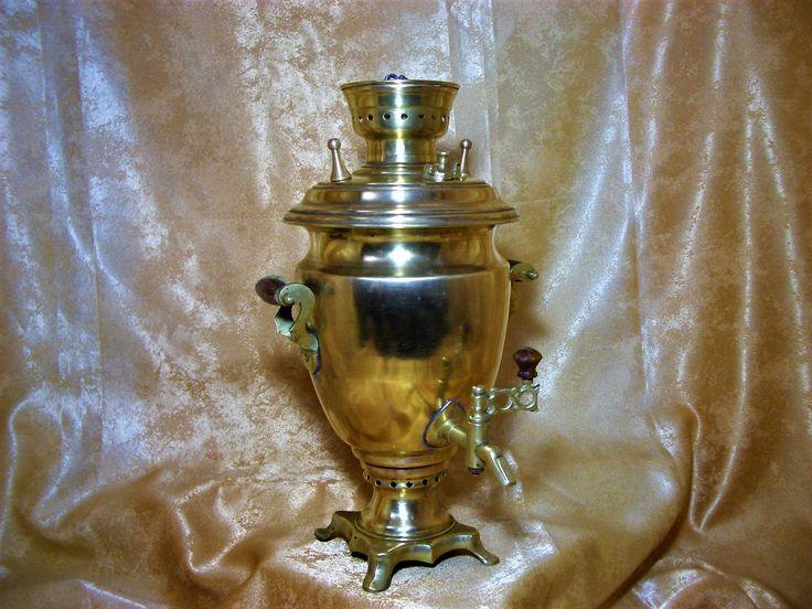 19th century Victorian Baroque brass bronze samovar, antique by AntiqueBoutiqueZ on Etsy