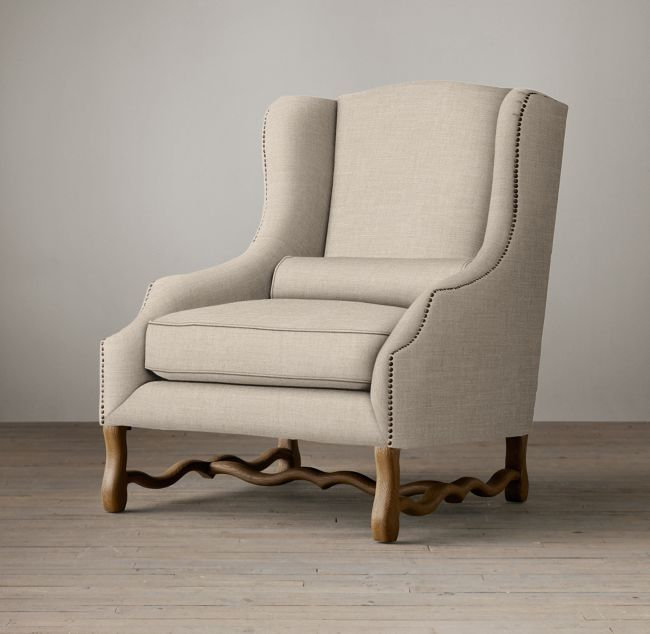 17th C French Wingback Chair Tuxedo Pinterest Wingback chairs