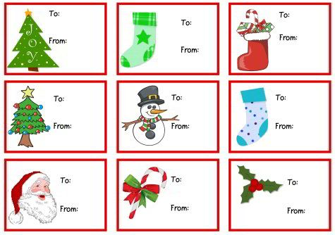 Printable Christmas Gift Cards