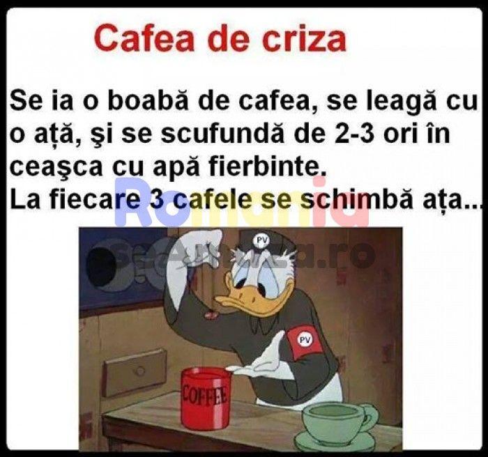 Reteta pentru o cafea de criza