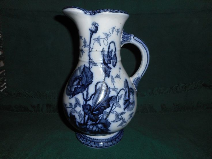 Antique Samual Alcock jug, poppy pattern | eBay