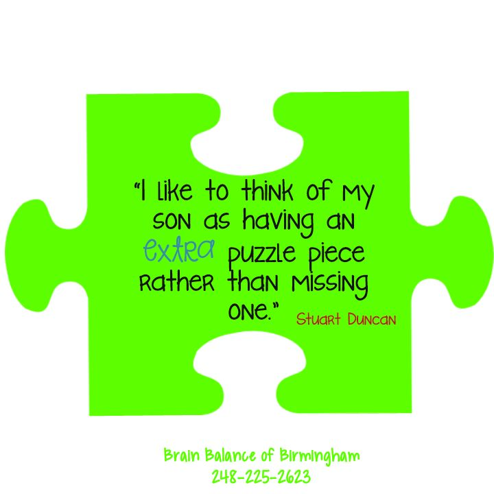 """Missing Puzzle Piece Quote: """"I Like To Think Of My #son As Having An Extra #puzzle"""